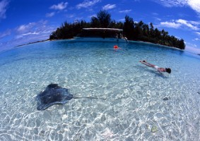 南太平洋 モーレア島 2004年1月 ©青木勝