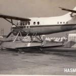 日東航空 デハビランド・カナダDH-3オッター単発水上機(伊丹空港) 1963年(昭和38年) (S・S)