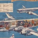 ボーイング・ストラトクルーザー(パンアメリカン航空) 1949年(昭和24年)のパンアメリカン航空の太平洋線パンフレット。