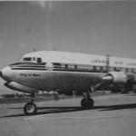 日本航空 ダグラスDC-6B(宮崎空港) 1966年(昭和41年)。 (坂)