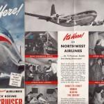 ボーイング・ストラトクルーザー(ノースウエスト航空) 1949年(昭和24年)のノースウエスト航空のパンフレット。