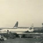 タイ航空のカラベル 1955年の初飛行以来、各国で広く使われた中距離機。1964年(昭和39年)頃。(小)