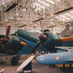 100式司偵(イギリス空軍博物館・コスフォード館) 手前に「桜花」が展示してあります。 (里井T)