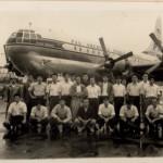 ボーイング・ストラトクルーザー(パンアメリカン航空) 「空飛ぶホテル」と呼ばれる2階建て4発機(1955年(昭和30年))。(坂)