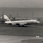 日本航空のコンベアCV-880 日本航空では 1961年(昭和36年)~1970年(昭和45年)まで、近距離国際線と国内線で使われた。