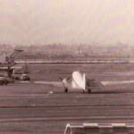 運輸省航空局のダグラスDC-3 フライトチェック用のDC-3「ちよだ号」。1966年(昭和41年)頃。(坂)