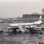 カンタス航空のロッキード・エレクトラ 1961年(昭和36年)。(梅)