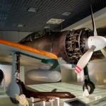 ゼロ戦(国立科学博物館) ラバウル現地で複座に改造されています。 (坂)