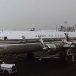 日本航空のダグラスDC-6B City of Nara 1963年(昭和38年)。(山)