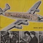 BOAC航空のパンフ レット(1949年(昭和24年)当時) 使用機はローッキード・コンステレーション。